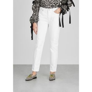 Dries Van Noten Perry White High Rise Jeans
